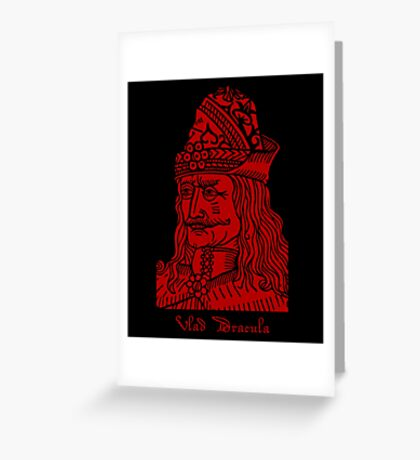 Vlad Dracula Tepes The Impaler Vampire Greeting Card