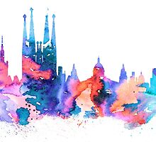 Barcelona by Watercolorsart