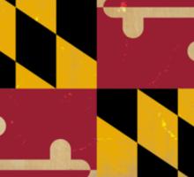 Maryland State Flag VINTAGE Sticker