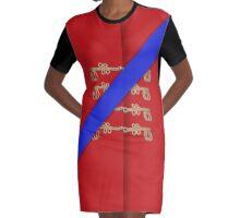 A La Militaire No.2 Graphic T-Shirt Dress