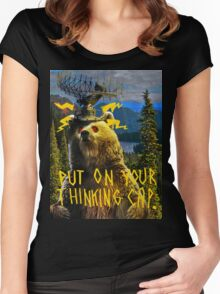 Thinking Cap Women's Fitted Scoop T-Shirt