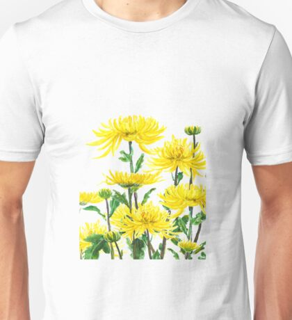 yellow chrysanthemums 2 Unisex T-Shirt