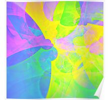Bright #Fractal Art Poster