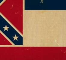 Mississippi State Flag VINTAGE Sticker