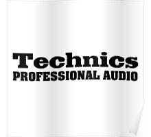 Technics black Poster