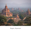 Bagan's pagodas from above, Myanmar by Jacinthe Brault