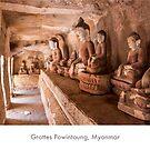 Powintaung caves, Myanmar by Jacinthe Brault