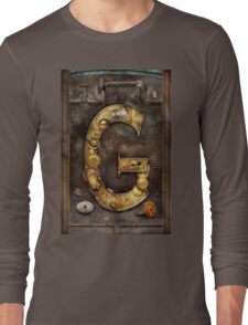 Steampunk - Alphabet - G is for Gears Long Sleeve T-Shirt