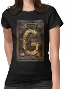 Steampunk - Alphabet - G is for Gears Womens Fitted T-Shirt