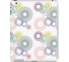 Pretty spirographs iPad Case/Skin