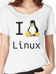 i love linux Women's Relaxed Fit T-Shirt