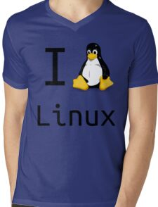 i love linux Mens V-Neck T-Shirt