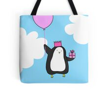 Penguin with Balloon Tote Bag