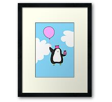 Penguin with Balloon Framed Print