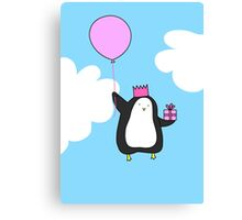 Penguin with Balloon Canvas Print