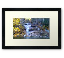 Buttermilk Falls, New York Framed Print