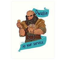 The Soldier Dwarf at Your Service Art Print