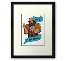 The Soldier Dwarf at Your Service Framed Print