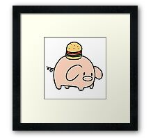 Hamburger Piggy Framed Print