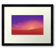 Dessert Sunset Framed Print