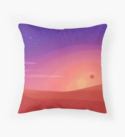 Dessert Sunset Throw Pillow