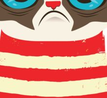 Grumpy Cat with Red Sweater Sticker