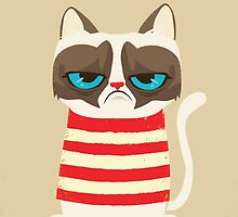 Grumpy Cat with Red Sweater by CAnastase