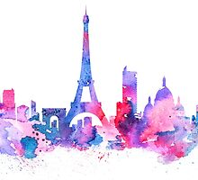 Paris by Watercolorsart