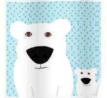 Polar Bear Mother and child Poster