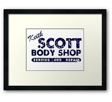 Keith Scott Body Shop Logo Framed Print
