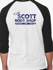 Keith Scott Body Shop Logo Men's Baseball ¾ T-Shirt