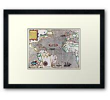 16th Century Map of the Known World Framed Print