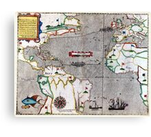 16th Century Map of the Known World Canvas Print