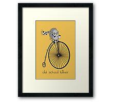 old school biker Framed Print
