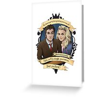 Rose and the 10th Doctor - Doctor Who Greeting Card