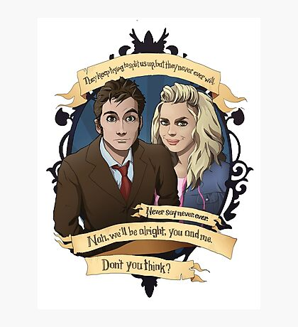 Rose and the 10th Doctor - Doctor Who Photographic Print