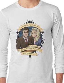 Rose and the 10th Doctor - Doctor Who Long Sleeve T-Shirt