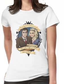 Rose and the 10th Doctor - Doctor Who Womens Fitted T-Shirt