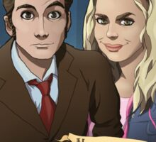 Rose and the 10th Doctor - Doctor Who Sticker