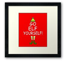 Funny Christmas Tree T-shirt: Go Elf Yourself! Tee Framed Print