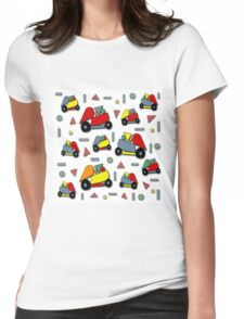 Car toy pattern Womens Fitted T-Shirt