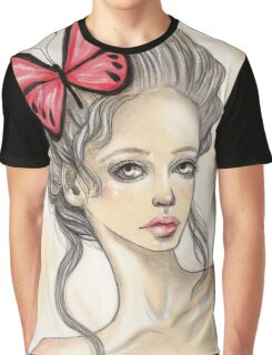 Red butterfly Graphic T-Shirt