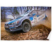 Subaru STI Rally Car Poster