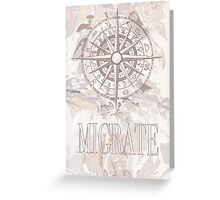 Migration compass Greeting Card