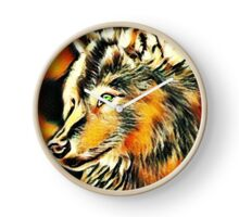 Wolf Abstract Clock