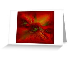 CRIMSON ENERGY Greeting Card