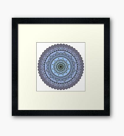 The Watching Mandala Framed Print
