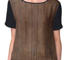 Wood Plank Pattern in Dark (No Texture) Chiffon Top