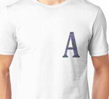 Letter 'A' Purple Mandala 2 Unisex T-Shirt