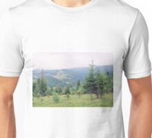 Landscape with firs Unisex T-Shirt
